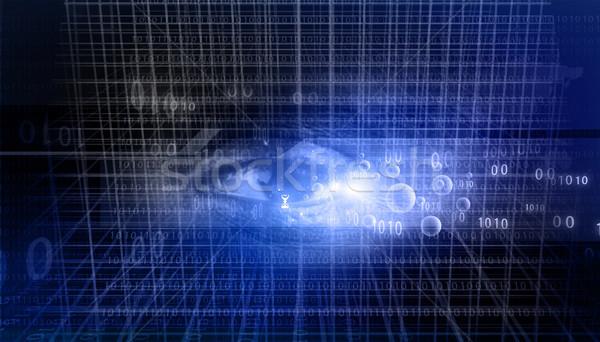 Cyfrowe danych ludzi oka działalności świetle Zdjęcia stock © bluebay