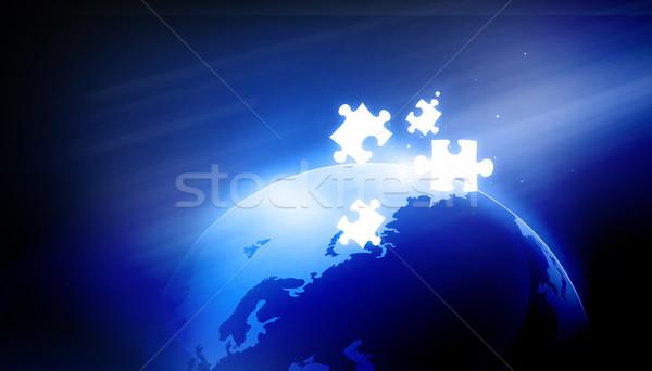 глобальный решения цифровой земле бизнеса мира Сток-фото © bluebay
