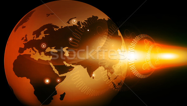 цифровой земле мира карта Мир технологий Сток-фото © bluebay