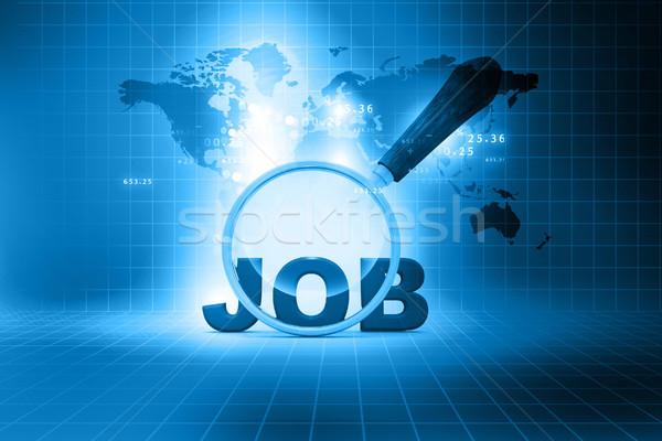 Minőség nagyító álláskeresés absztrakt technológia háttér Stock fotó © bluebay