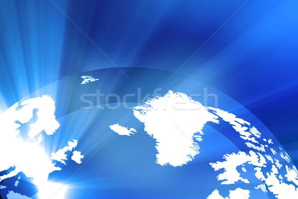 цифровой земле бизнеса интернет мира карта Сток-фото © bluebay