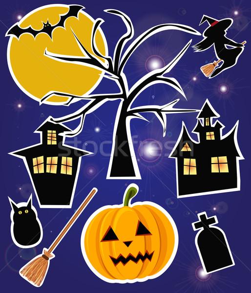 Halloween banners vector boom partij ontwerp Stockfoto © BlueLela