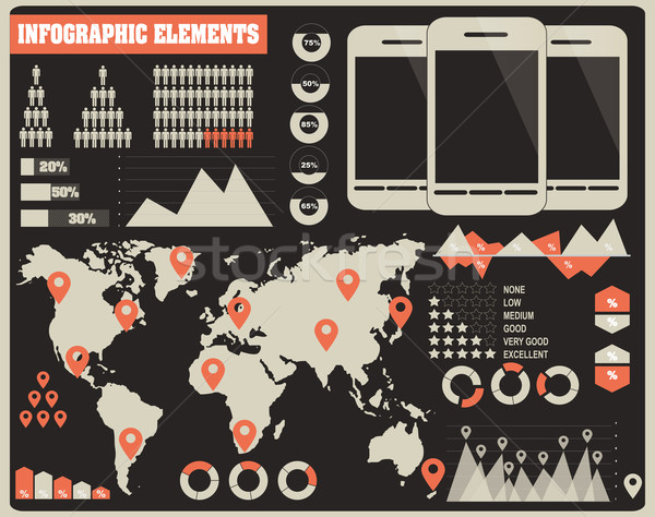 Collection of infographics elements, vector Stock photo © BlueLela