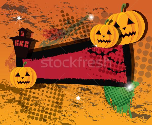 Stockfoto: Halloween · banners · vector · boom · partij · ontwerp