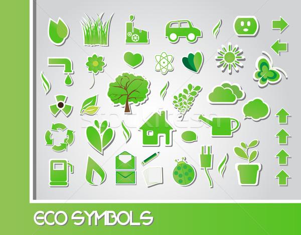 Eco simboli albero abstract natura cuore Foto d'archivio © BlueLela