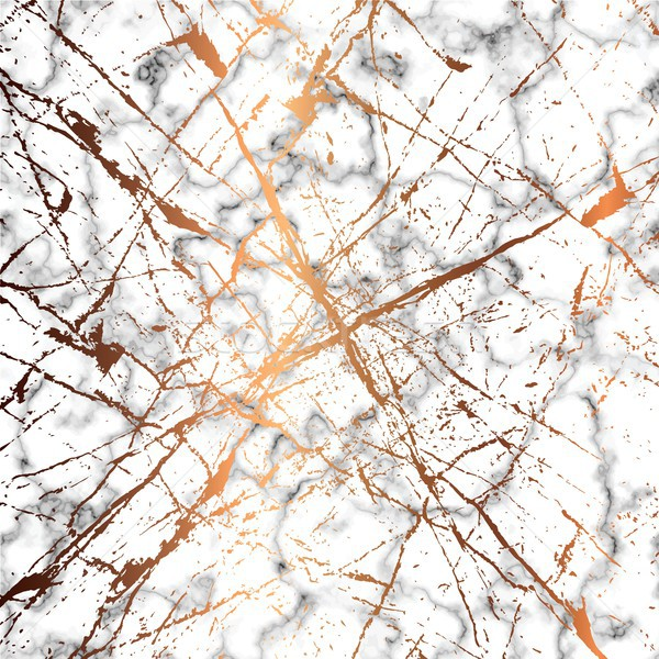 Vector marble texture design with golden splatter lines, black a Stock photo © BlueLela