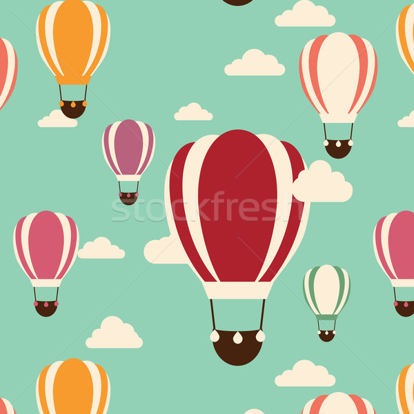 Background with hot air balloons, seamless pattern Stock photo © BlueLela
