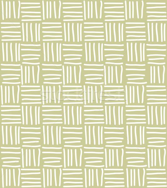 Seamless pattern with hand drawn chevron line grid, vector illus Stock photo © BlueLela