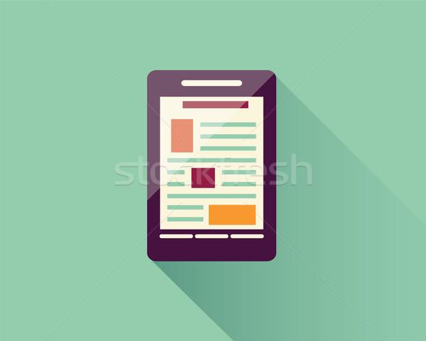 Ikon elektronik duyarlı web tasarım Stok fotoğraf © BlueLela
