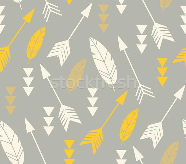 Bohemien Pfeile Design Hintergrund Stock foto © BlueLela