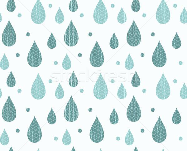 Yağmur damla hat çizimler Stok fotoğraf © BlueLela