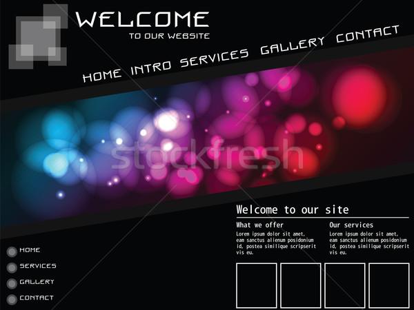 ウェブサイト テンプレート 要素 未来的な ホームページ ベクトル ストックフォト © BlueLela