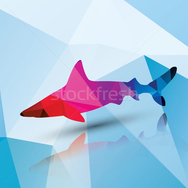 Geométrico tubarão padrão projeto peixe corpo Foto stock © BlueLela