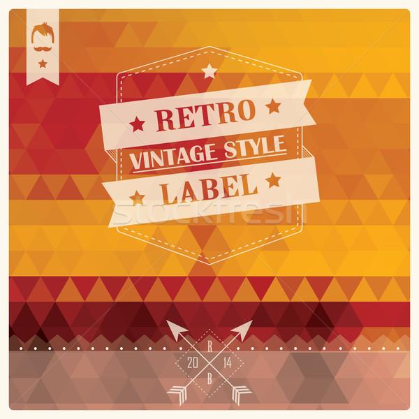 Vintage ретро Label типографики геометрический Сток-фото © BlueLela