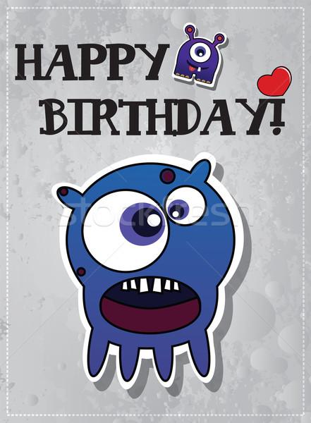 Happy birthday monster card Stock photo © BlueLela