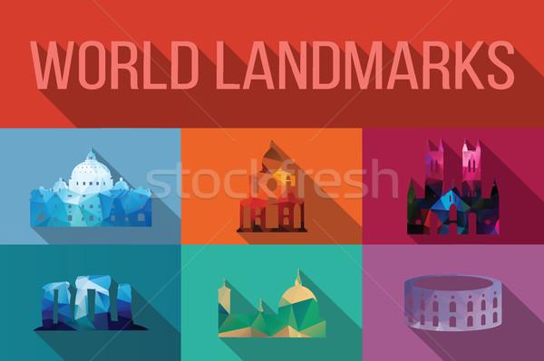 świat słynny budynków Europie Ameryki asia Zdjęcia stock © BlueLela