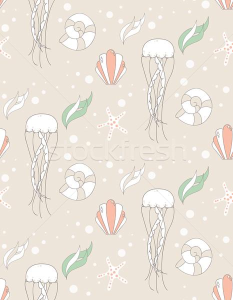 Seamless pattern with underwater scene Stock photo © BlueLela