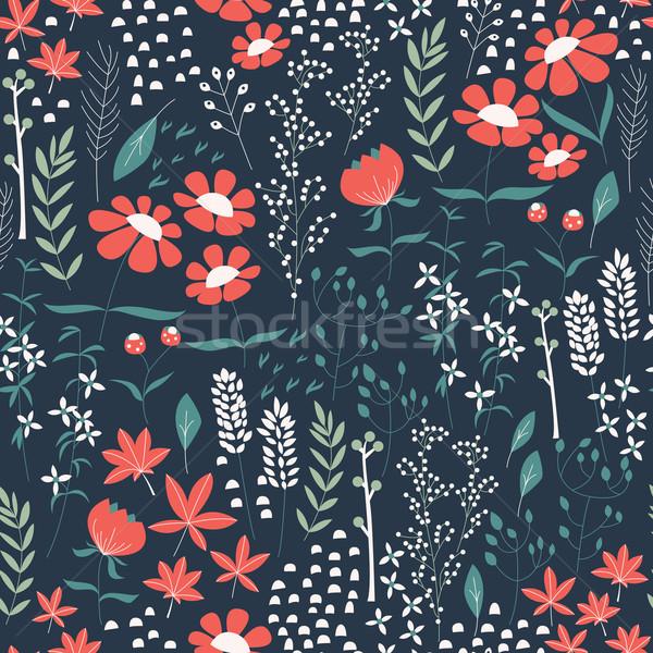 Design fiori floreale elementi Foto d'archivio © BlueLela