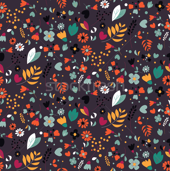 Seamless pattern with organic rounded and stripe shapes, vector illustration Stock photo © BlueLela