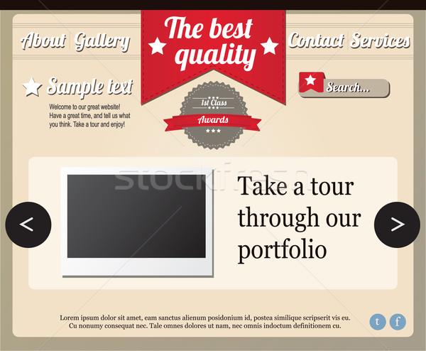 Website template elements, vintage style Stock photo © BlueLela
