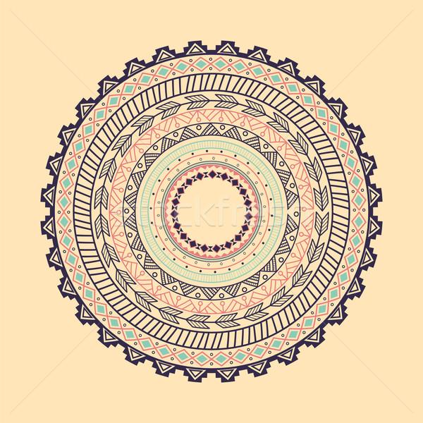 Ethnic Aztec circle ornament Stock photo © BlueLela