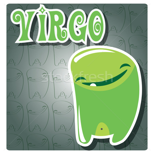 Zodiac sign Virgo with cute colorful monster Stock photo © BlueLela
