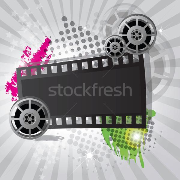 映画 インターネット 映画 背景 金属 オレンジ ストックフォト © BlueLela