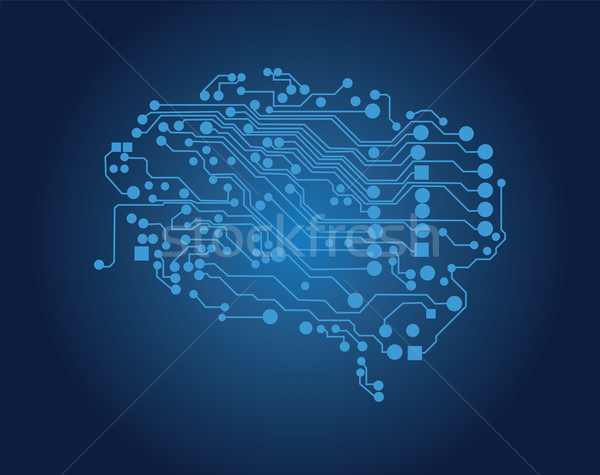 Human brain, logical thinking, vector Stock photo © BlueLela