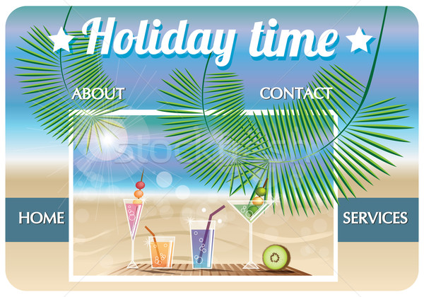 Website template travel agency, holiday Stock photo © BlueLela