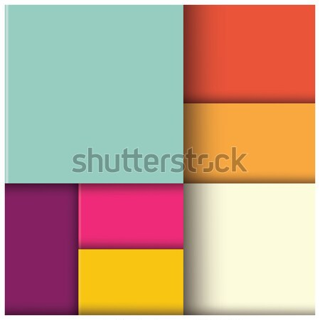 Abstract 3d square background, colorful tiles, geometric, vector Stock photo © BlueLela