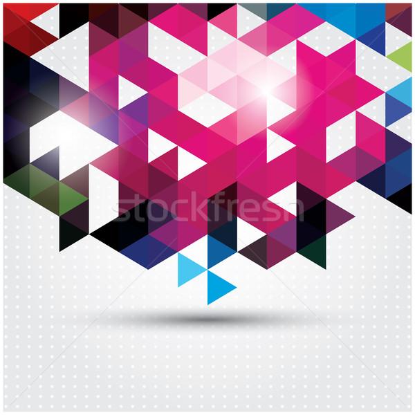 Soyut geometrik renkli model dizayn elemanları Stok fotoğraf © BlueLela