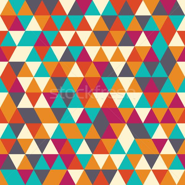 幾何学的な カラフル レトロな デザイン 紙 ストックフォト © BlueLela