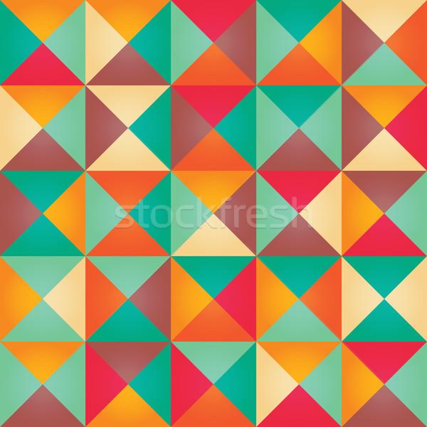 Geometrik renkli Retro dizayn kâğıt Stok fotoğraf © BlueLela
