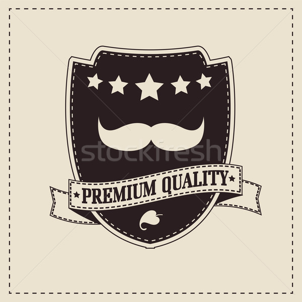 Hipster retro mustache, vector illustration Stock photo © BlueLela
