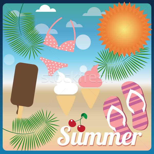 Summer holiday card, vector Stock fotó © BlueLela