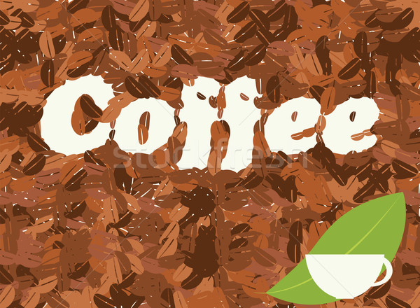 Kávé kávéscsésze kávé vektor bár pihen Stock fotó © BlueLela