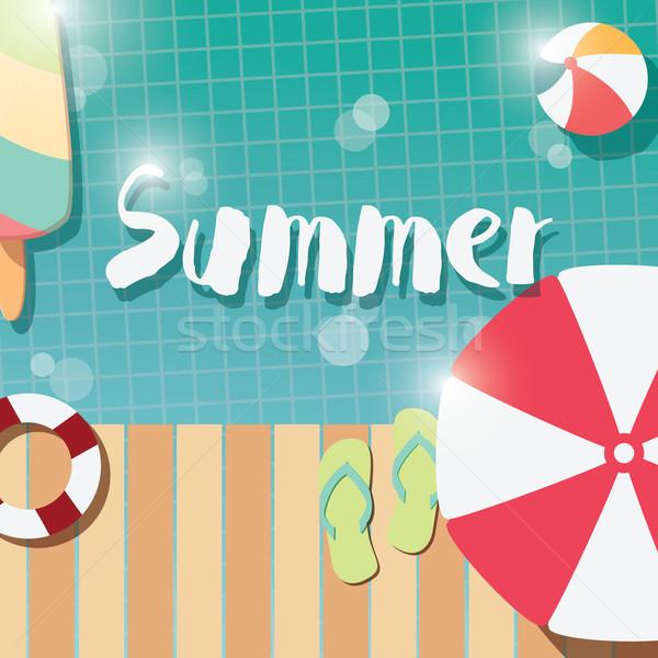 現代 夏 ポスター デザイン アイスクリーム ストックフォト © BlueLela