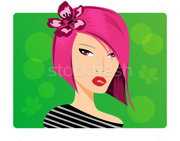 Portré gyönyörű fiatal lány szemek haj hölgy Stock fotó © BlueLela