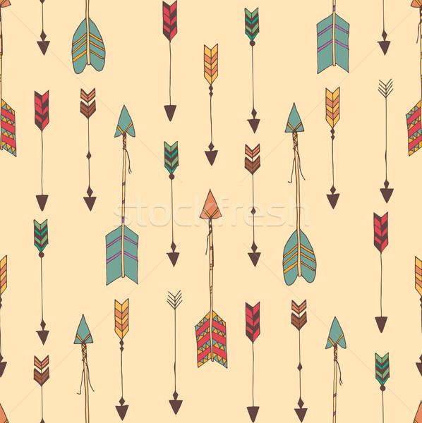 Boheems pijlen ontwerp achtergrond Stockfoto © BlueLela