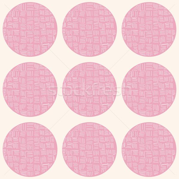 サークル 手描き 行 パターン 抽象的な ストックフォト © BlueLela