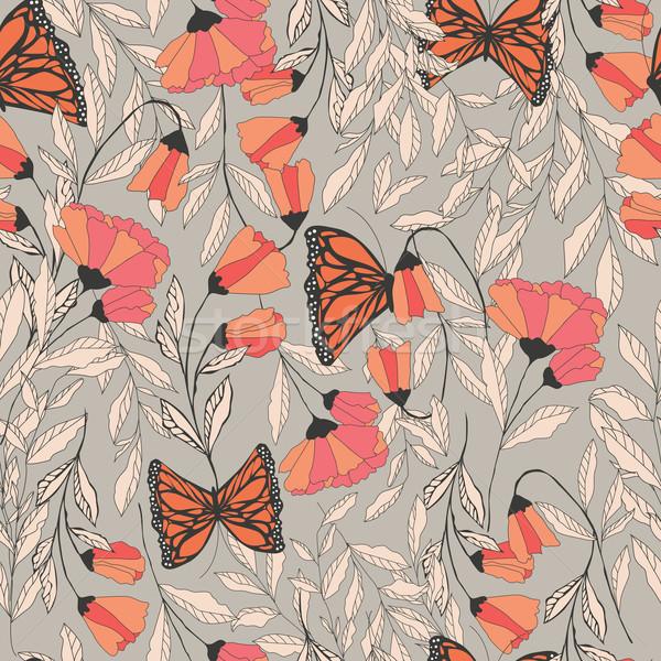 Stockfoto: Vector · traditioneel · vlinders · communie