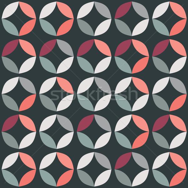 Geometrik renkli circles Retro dizayn Stok fotoğraf © BlueLela