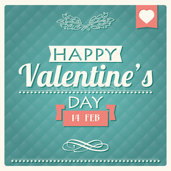 Happy Valentine s day typographical poster, vector illustration Stock photo © BlueLela