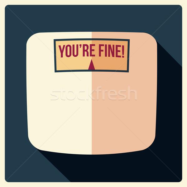 Bathroom weight scales, flat design, vector illustration Stock photo © BlueLela