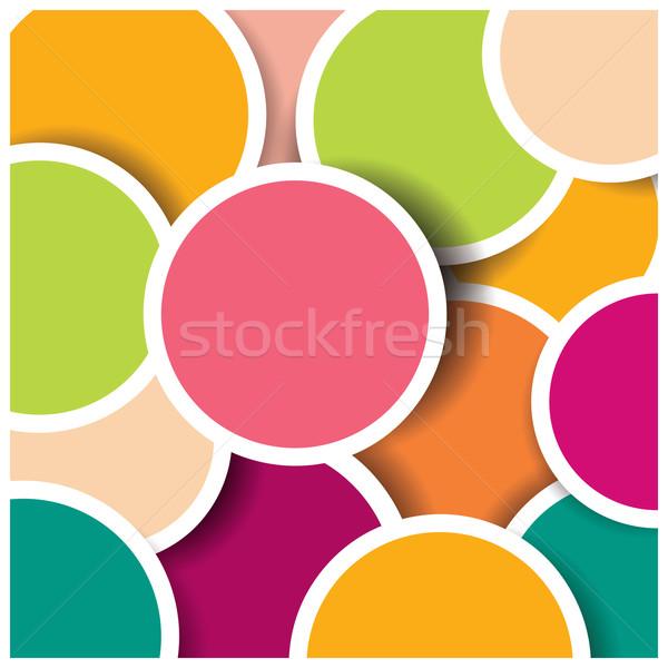 Absztrakt 3D kör színes minta terv Stock fotó © BlueLela