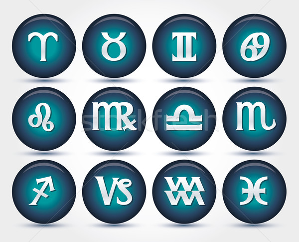 Set of zodiac signs Stock photo © BlueLela