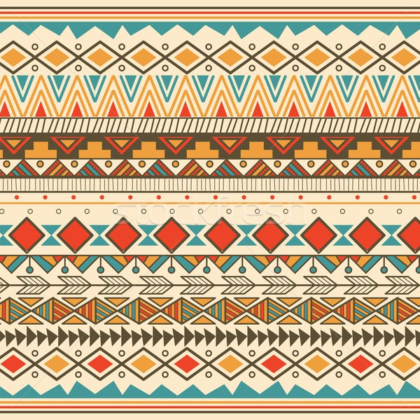 Aztec tribal pattern in stripes Stock photo © BlueLela