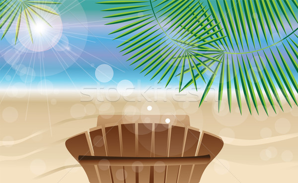 Summer holiday card with tropical island and photos Stock photo © BlueLela