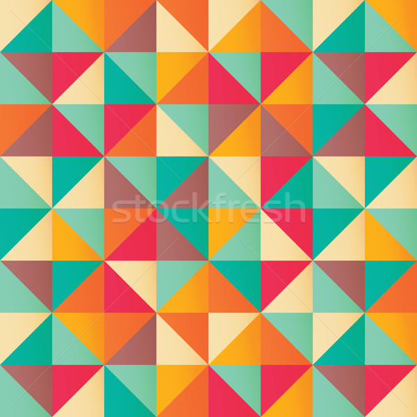 Geometric seamless pattern with colorful triangles in retro desi Stock photo © BlueLela