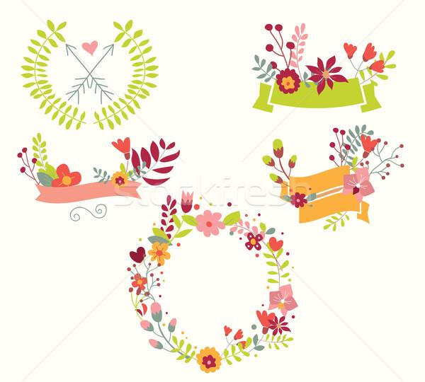 手描き ヴィンテージ 花 フローラル 要素 結婚式 ストックフォト © BlueLela